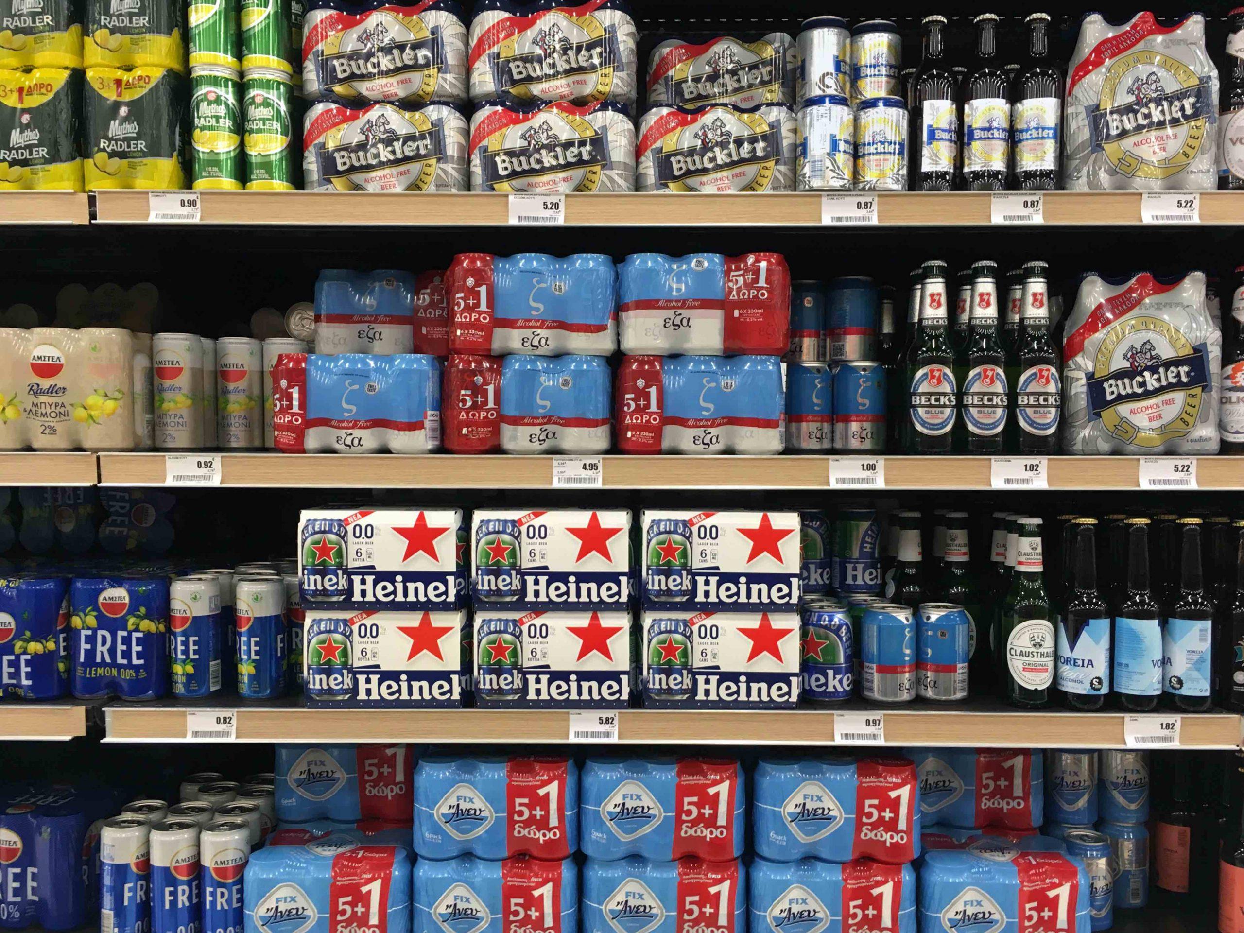 Bier Packs in Likörladen