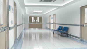 Leeres Krankenhaus in Neuseeland