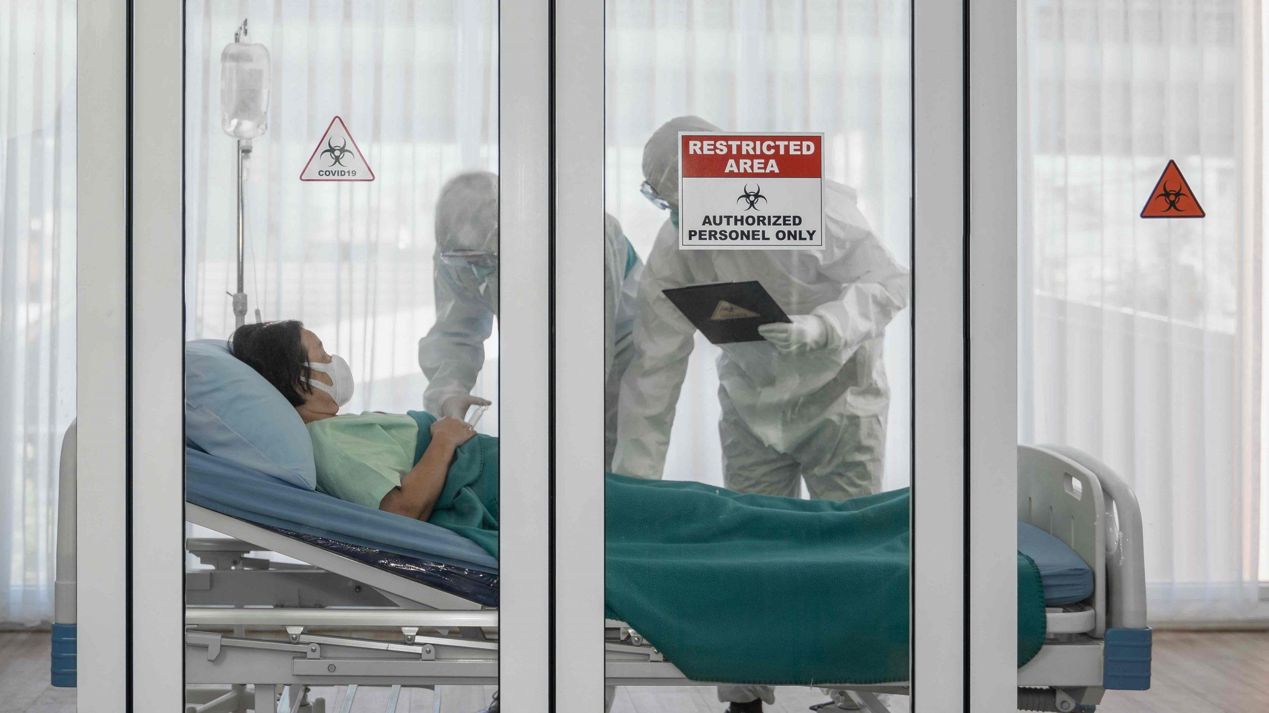 Quarantäne Einrichtung in Auckland mit Patient